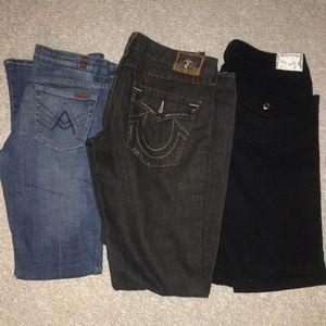 Other - Returning Trade / 2 Trues & Broken 7 jeans zipper